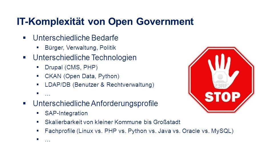 IT-Komplexität von Open Government