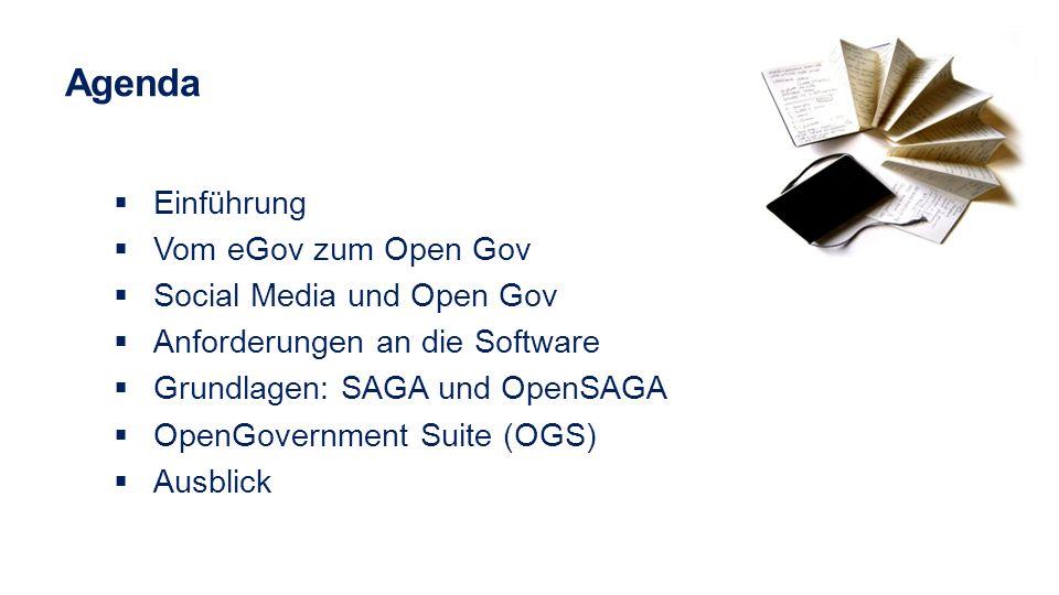 Agenda Einführung Vom eGov zum Open Gov Social Media und Open Gov