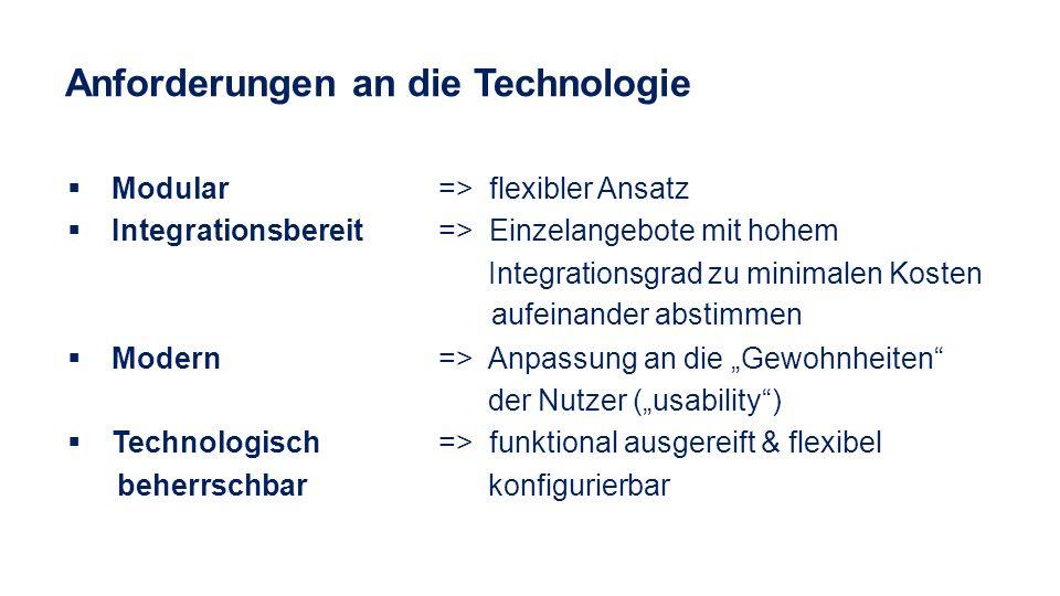 Anforderungen an die Technologie