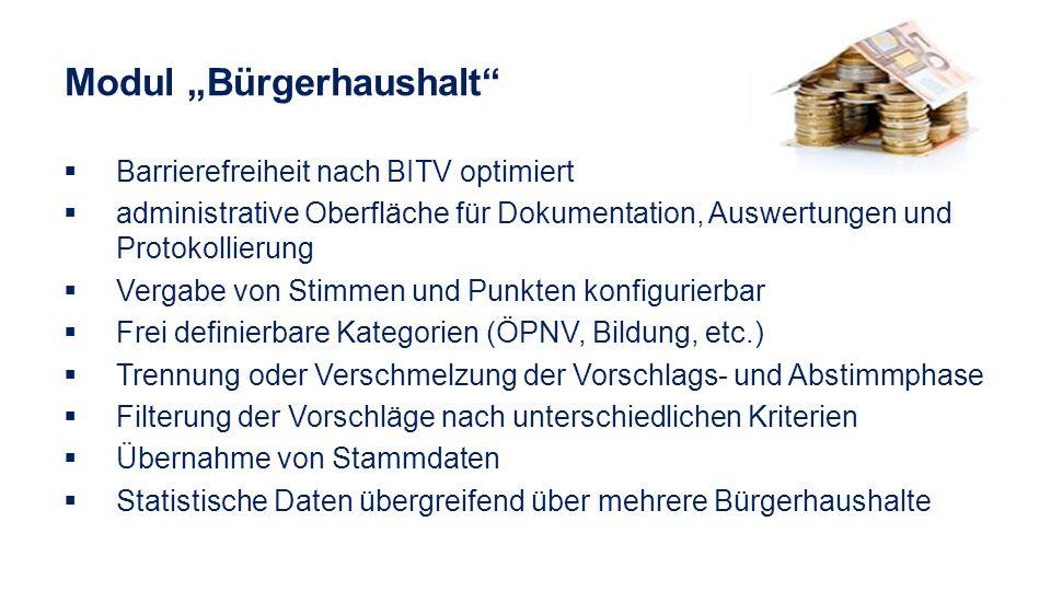 """Modul """"Bürgerhaushalt"""
