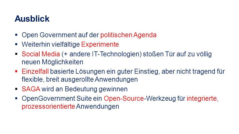 Ausblick Open Government auf der politischen Agenda