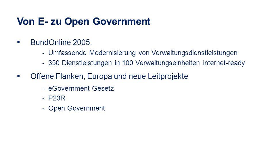 Von E- zu Open Government