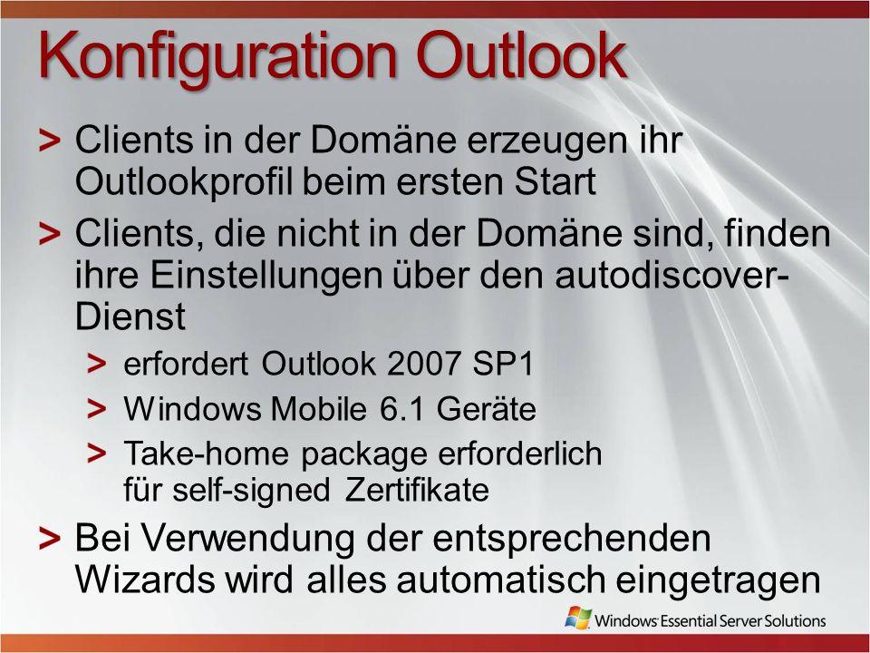 Konfiguration Outlook