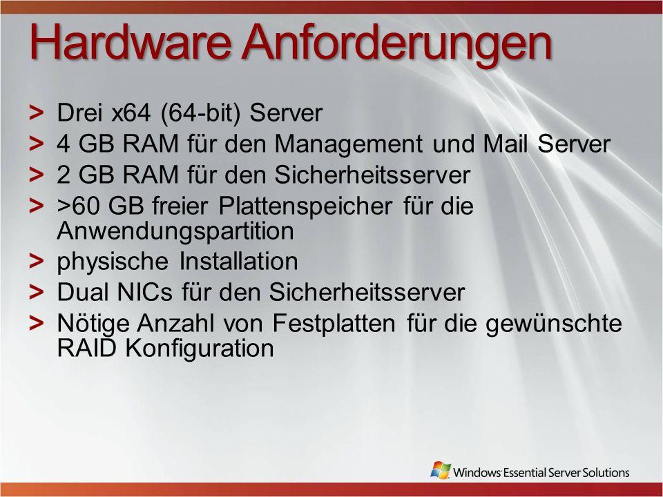 Hardware Anforderungen