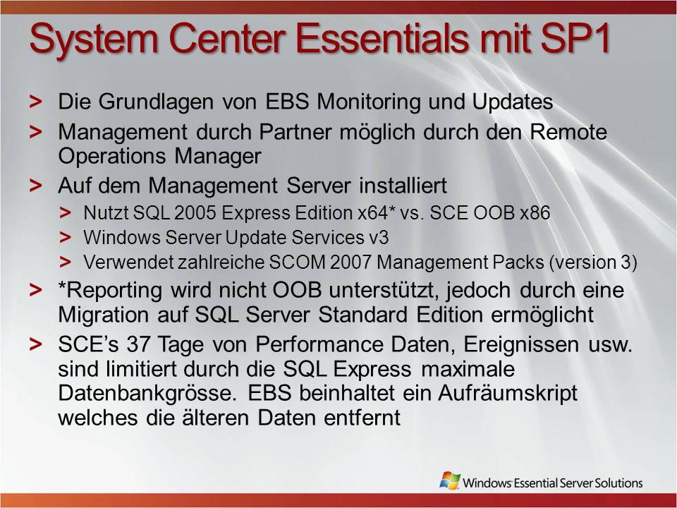 System Center Essentials mit SP1