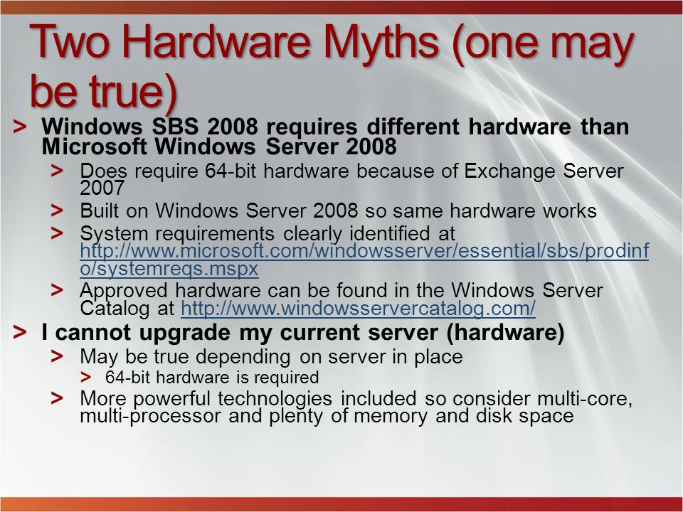 Two Hardware Myths (one may be true)