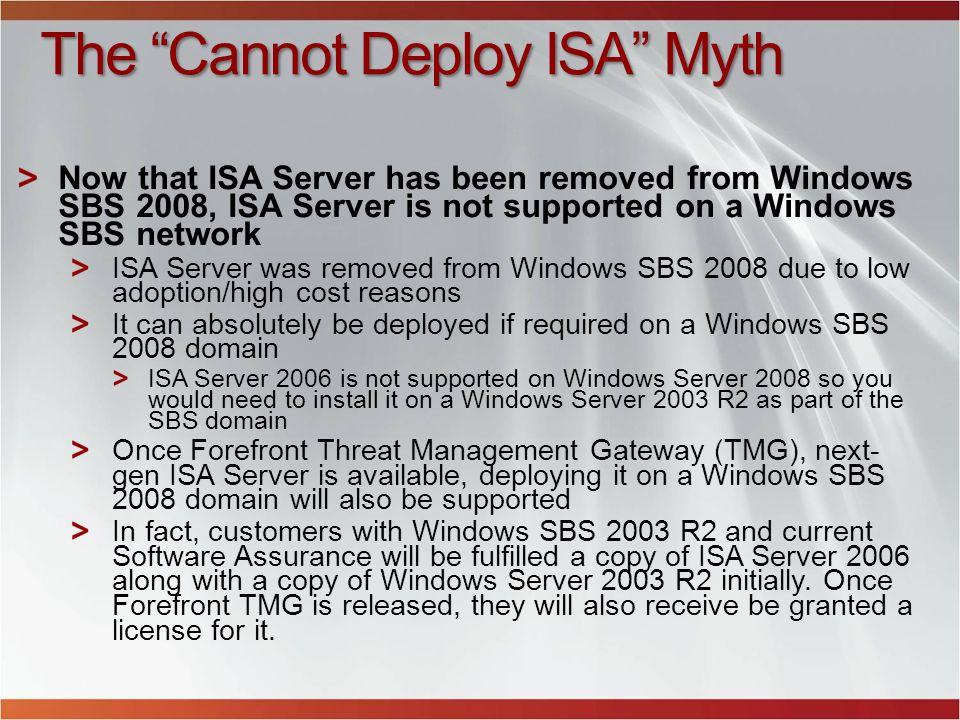 The Cannot Deploy ISA Myth