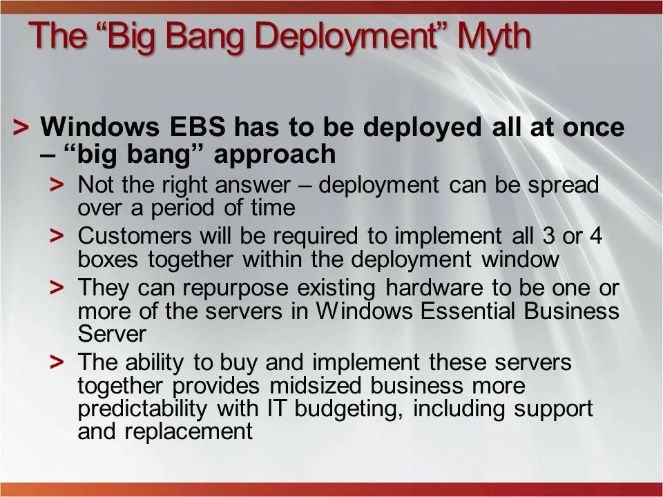 The Big Bang Deployment Myth
