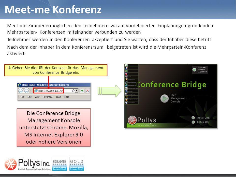 Meet-me Konferenz