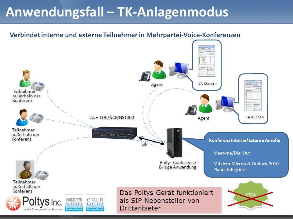 Anwendungsfall – TK-Anlagenmodus