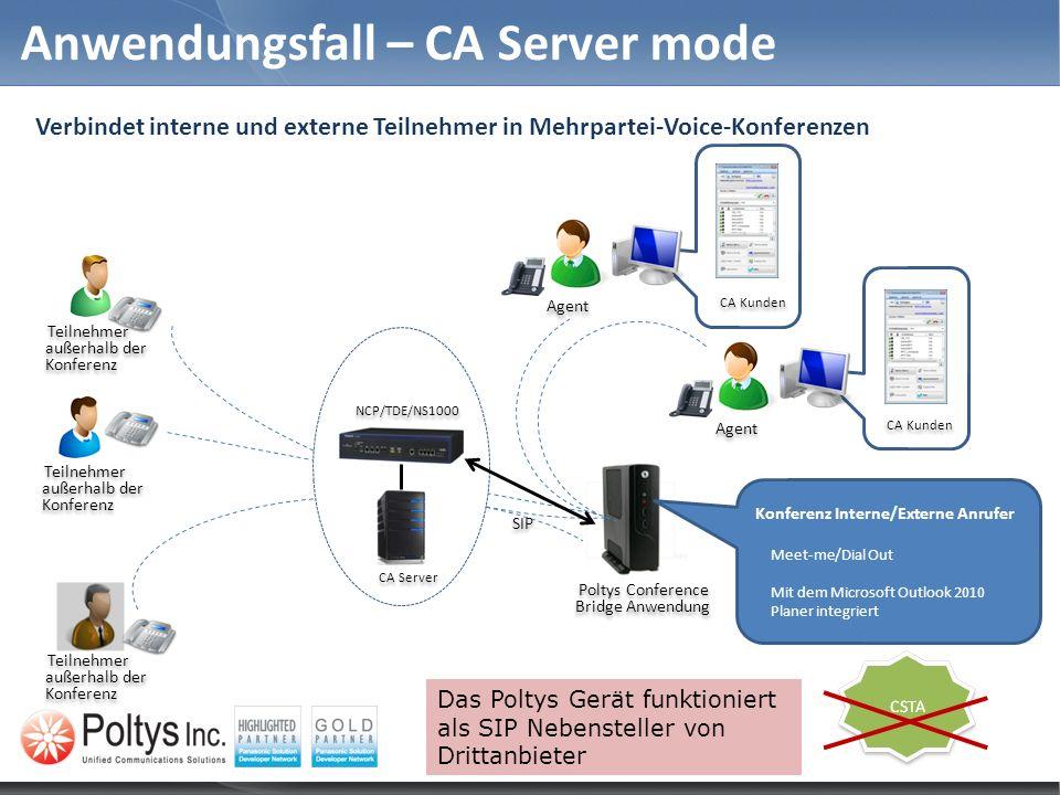 Anwendungsfall – CA Server mode