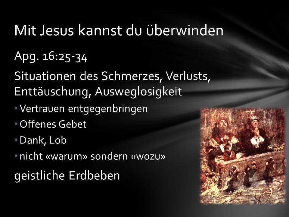Mit Jesus kannst du überwinden
