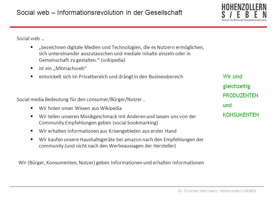 Social web – Informationsrevolution in der Gesellschaft