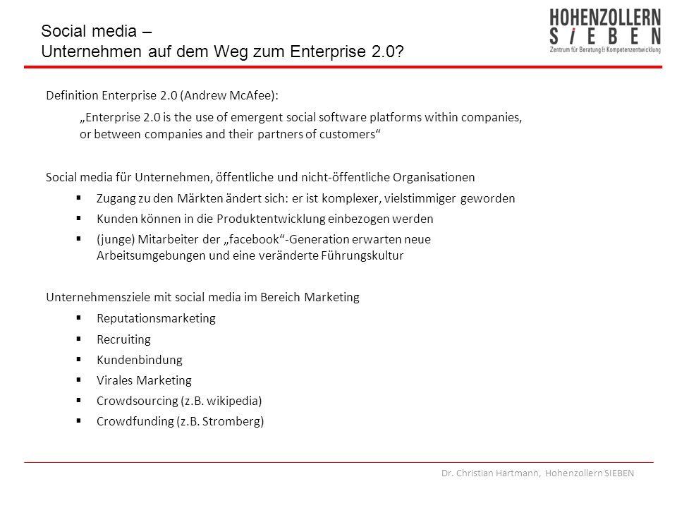 Social media – Unternehmen auf dem Weg zum Enterprise 2.0