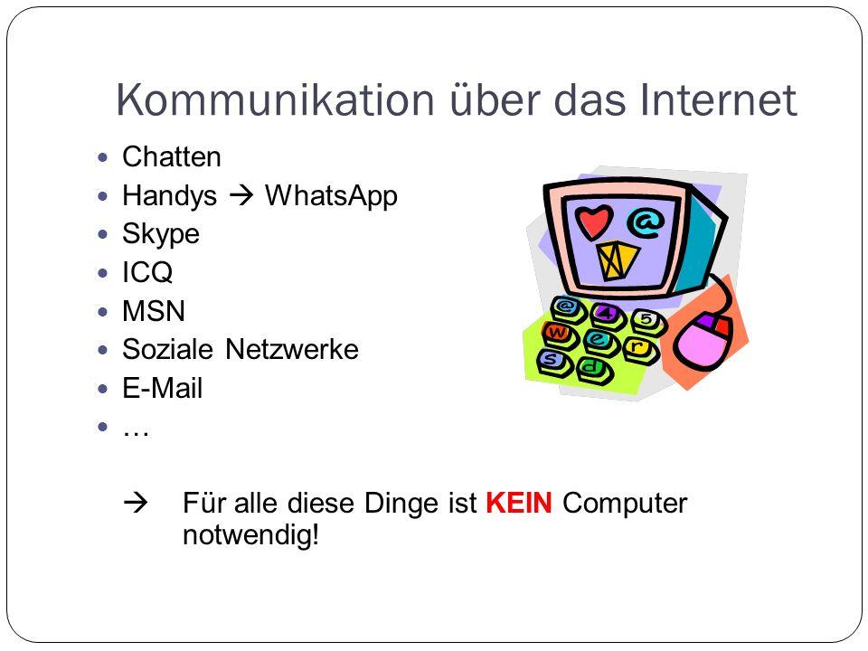 Kommunikation über das Internet