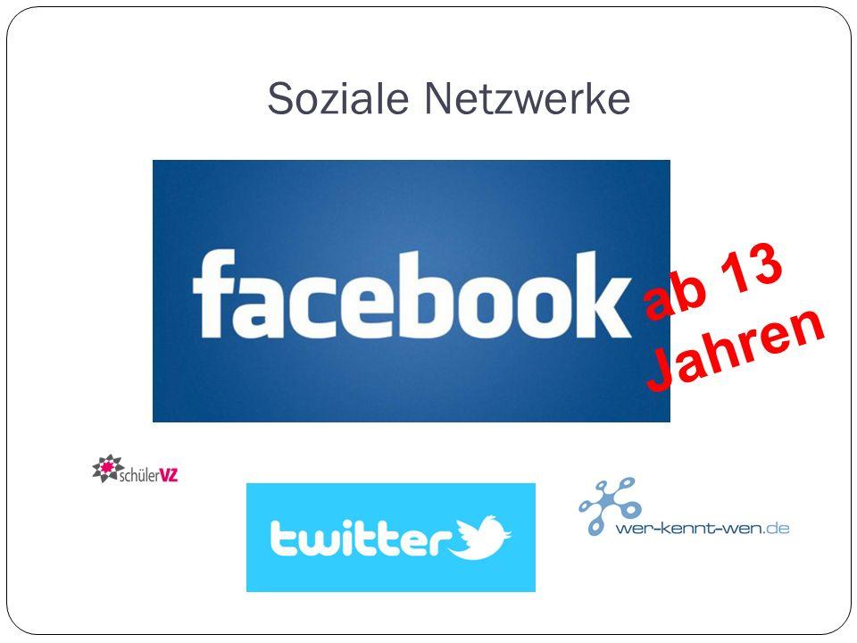 Soziale Netzwerke ab 13 Jahren