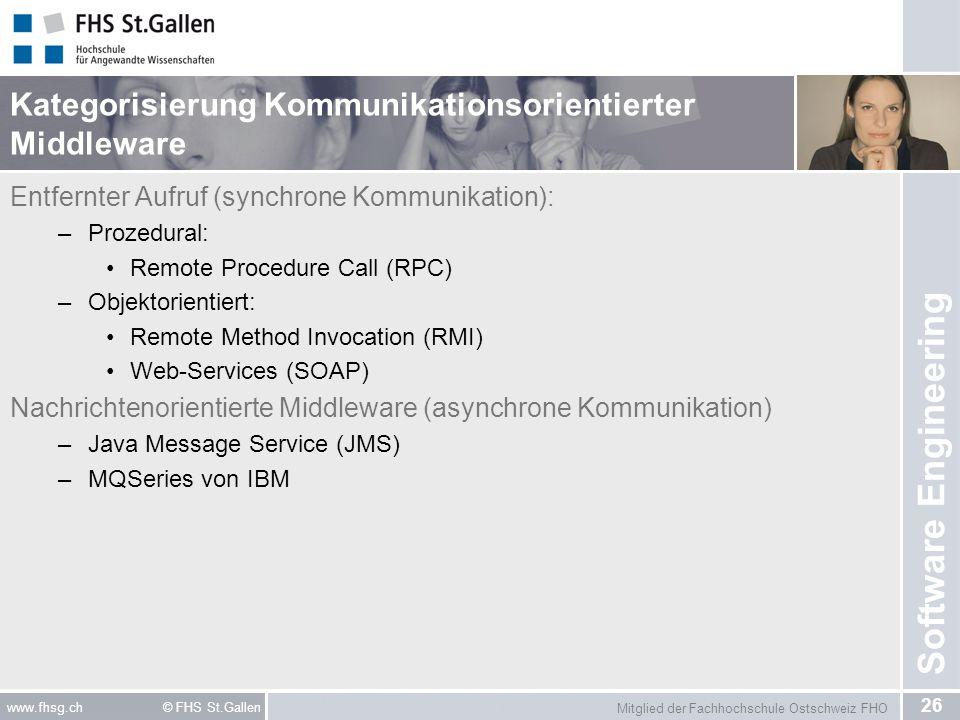 Kategorisierung Kommunikationsorientierter Middleware