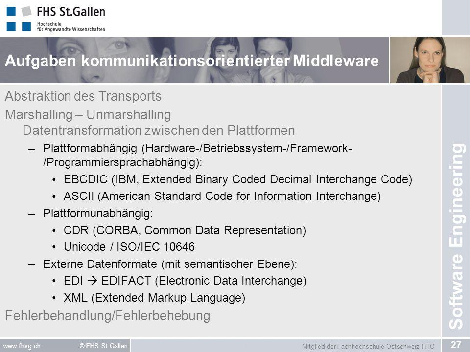 Aufgaben kommunikationsorientierter Middleware