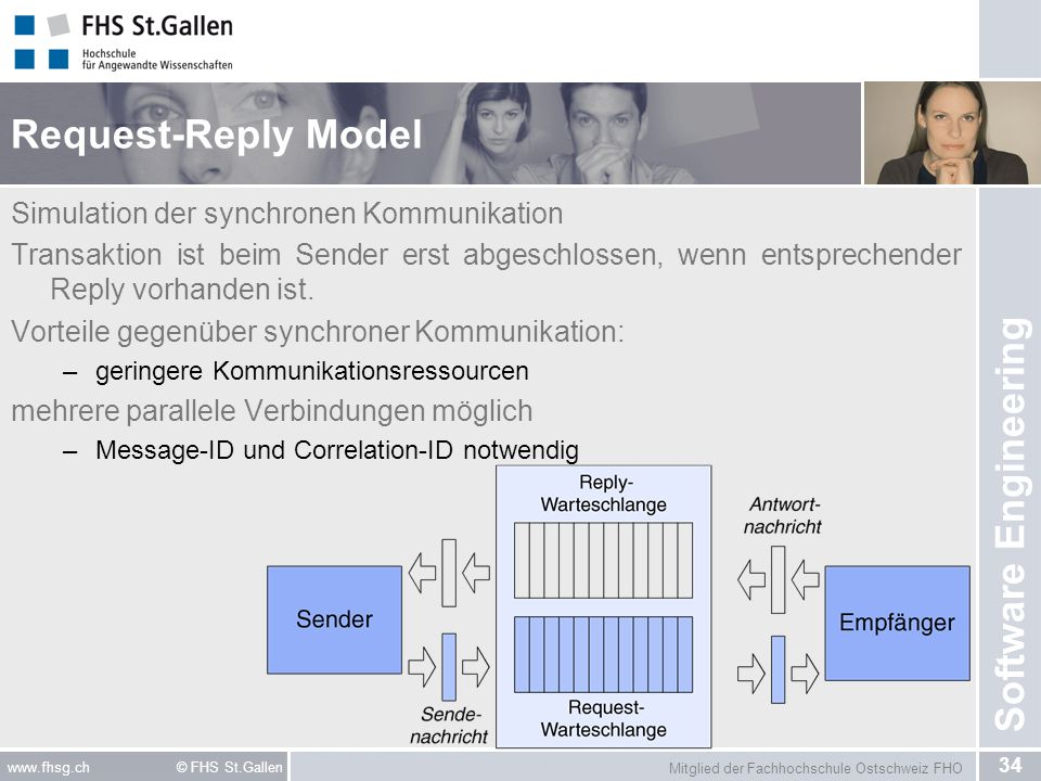 Request-Reply Model Simulation der synchronen Kommunikation
