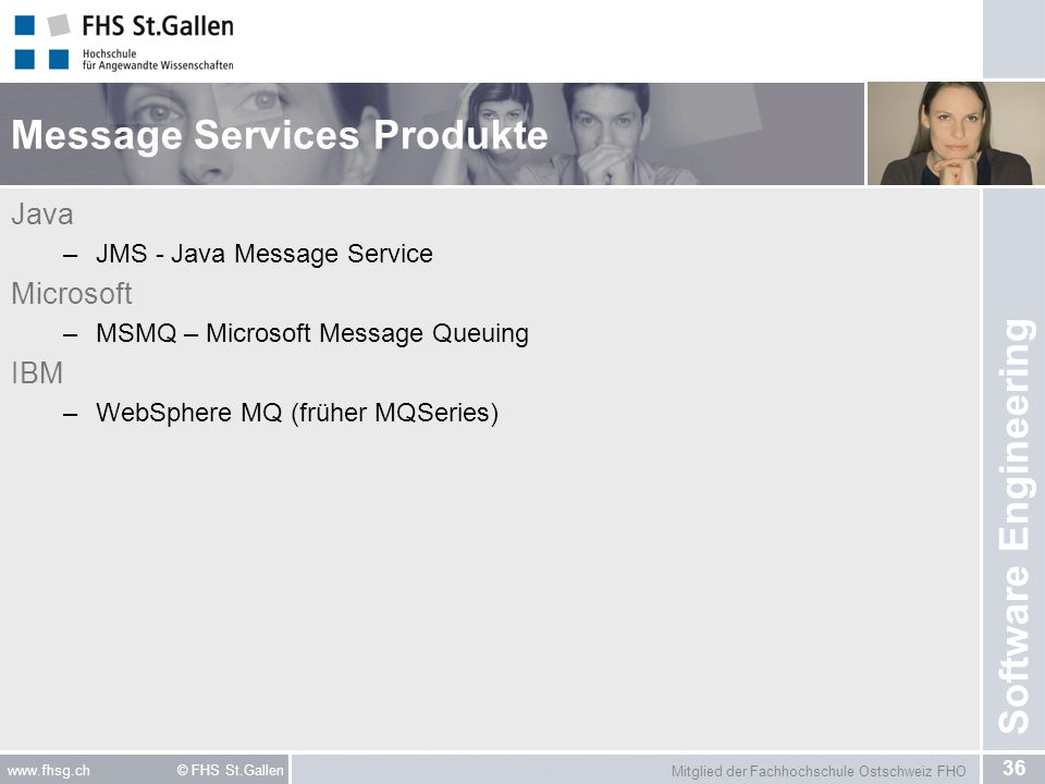 Message Services Produkte