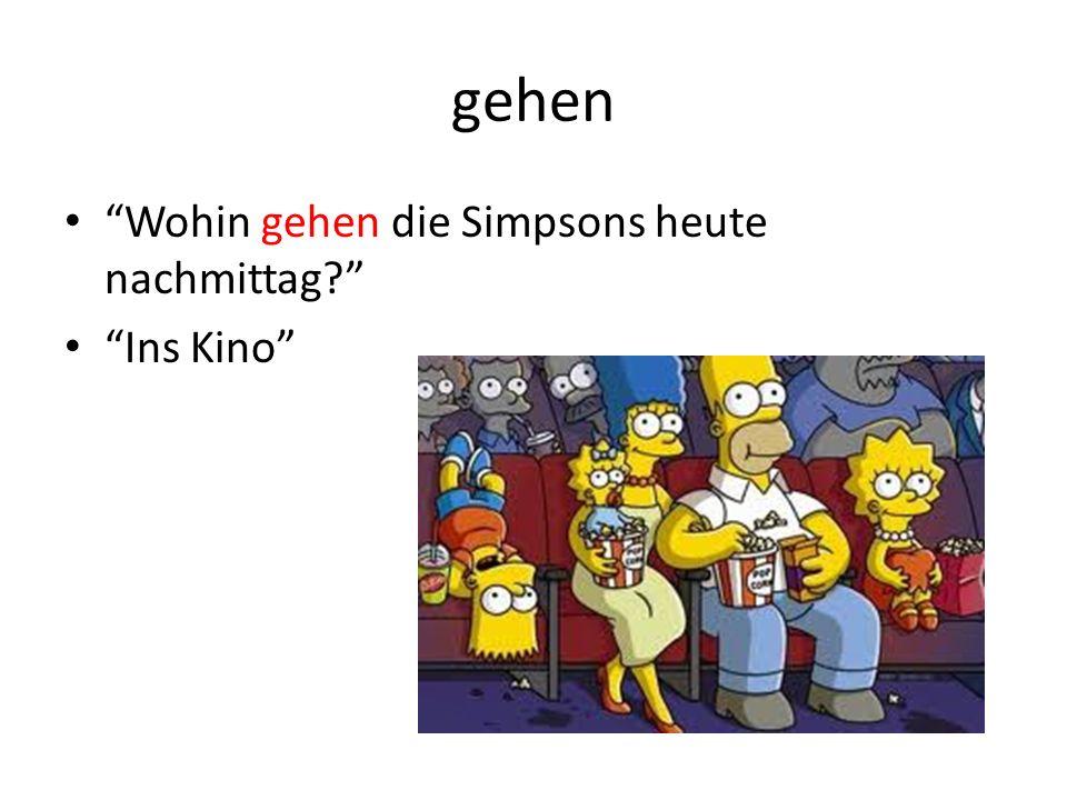 gehen Wohin gehen die Simpsons heute nachmittag Ins Kino