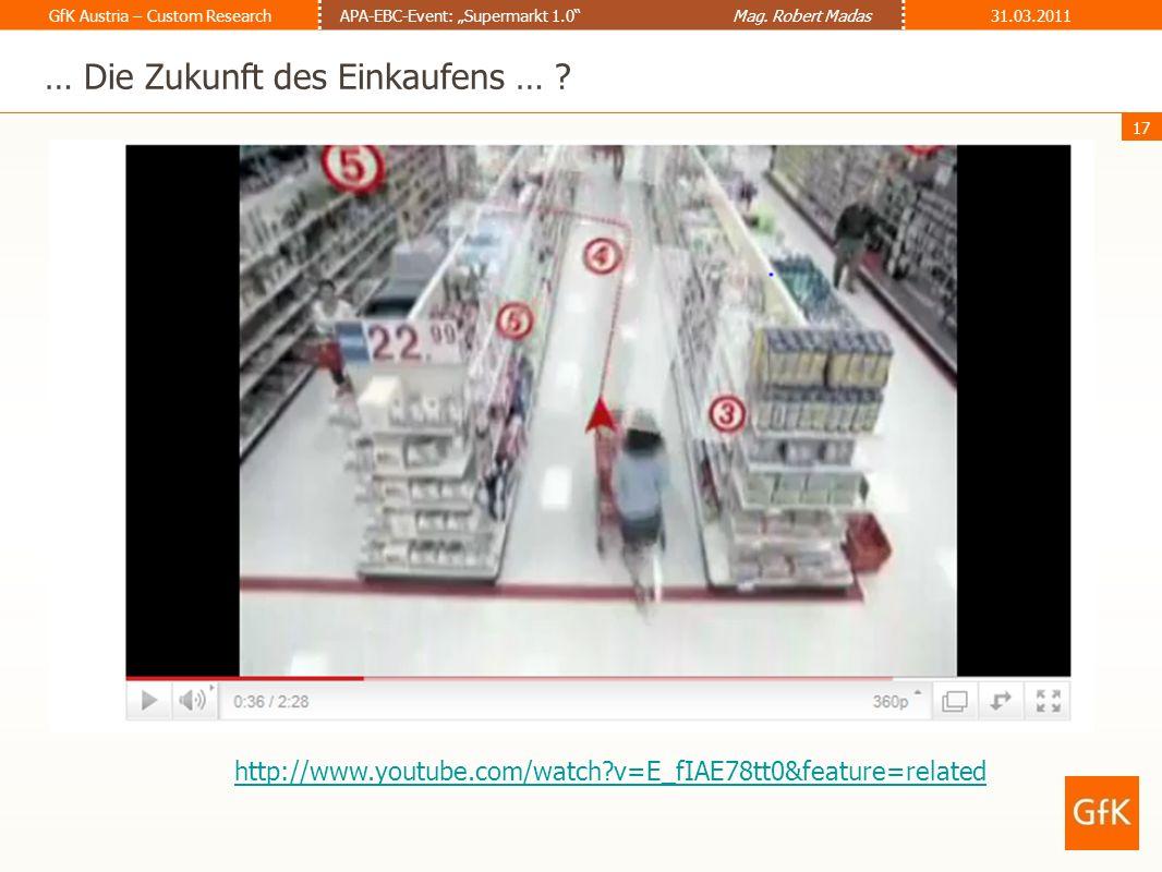 … Die Zukunft des Einkaufens …