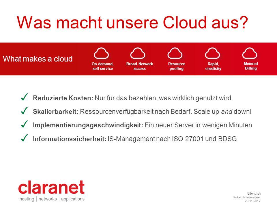 Was macht unsere Cloud aus
