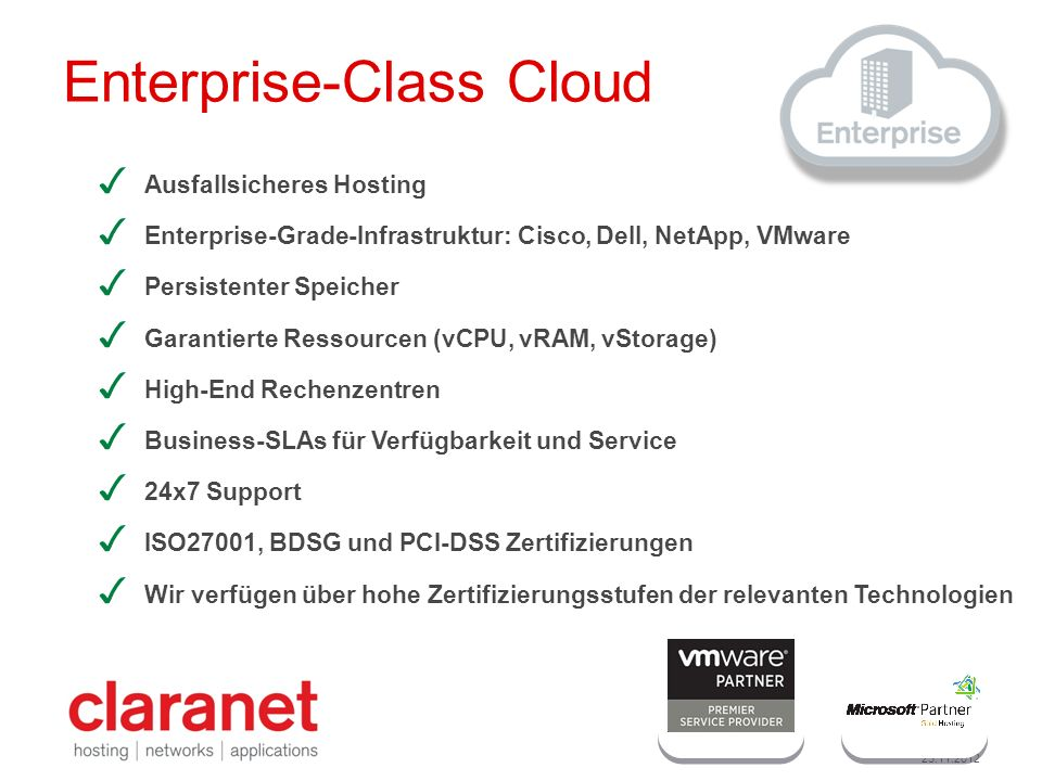Enterprise-Class Cloud