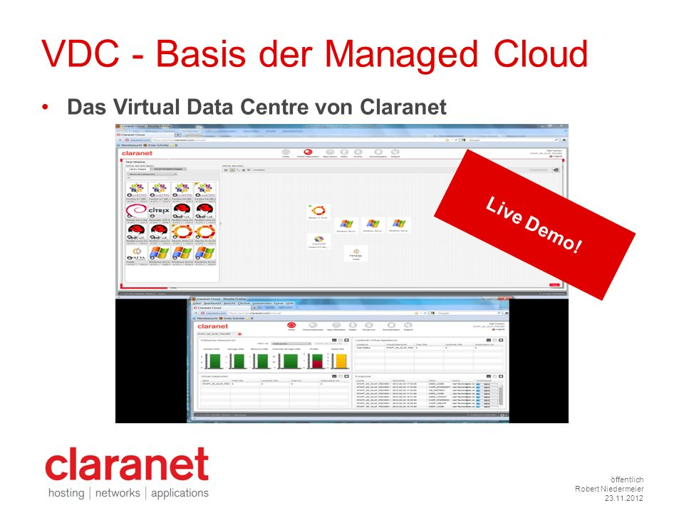 VDC - Basis der Managed Cloud