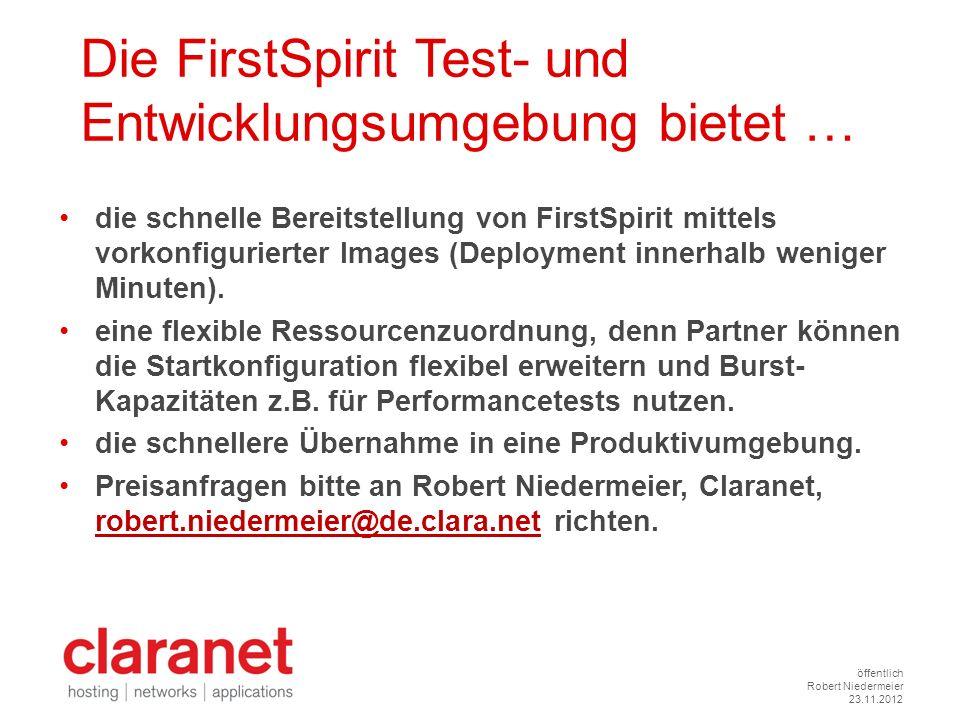 Die FirstSpirit Test- und Entwicklungsumgebung bietet …