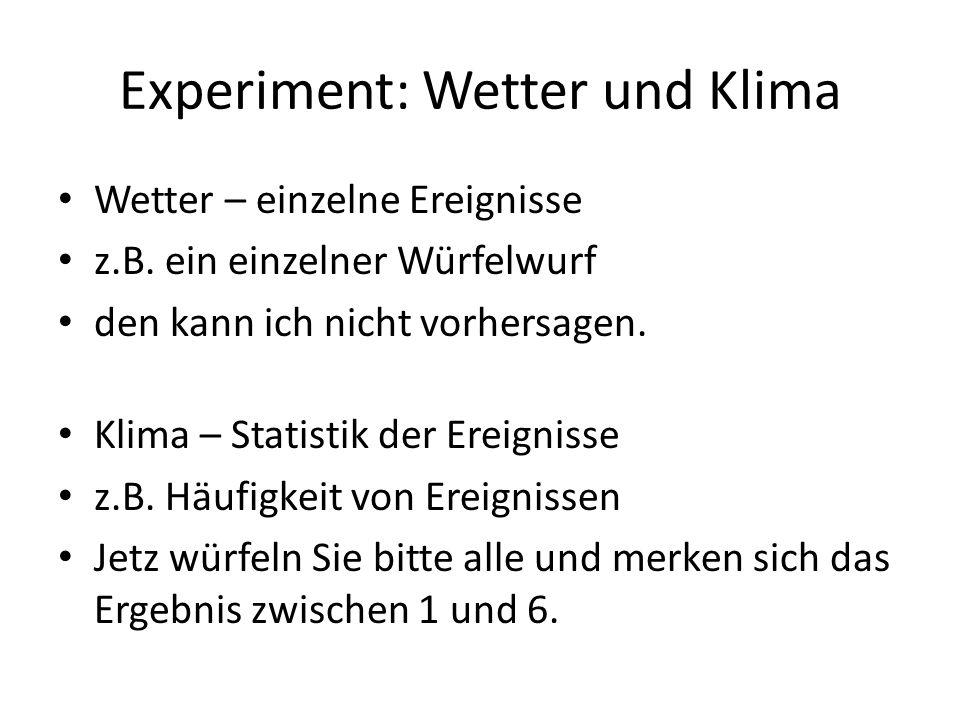 Experiment: Wetter und Klima