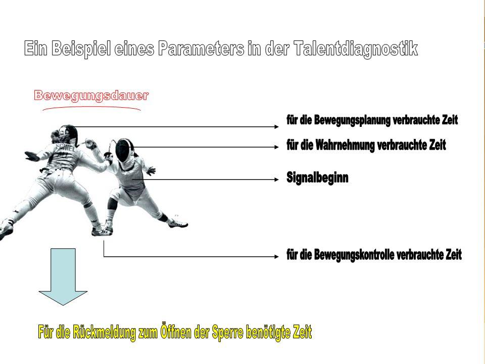 Ein Beispiel eines Parameters in der Talentdiagnostik