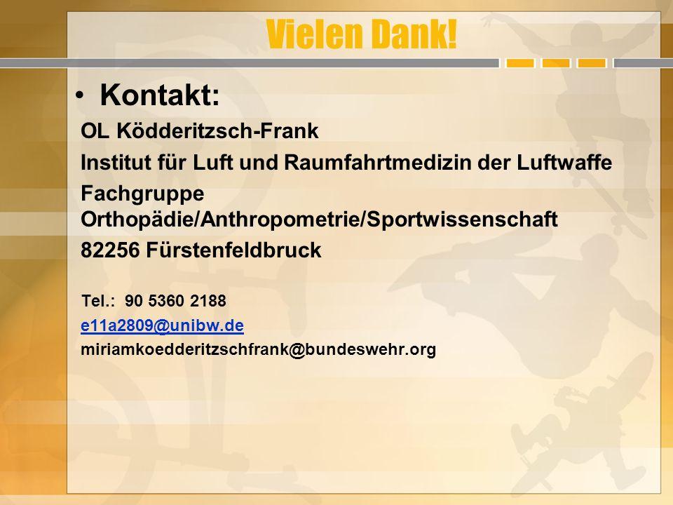 Vielen Dank! Kontakt: OL Ködderitzsch-Frank
