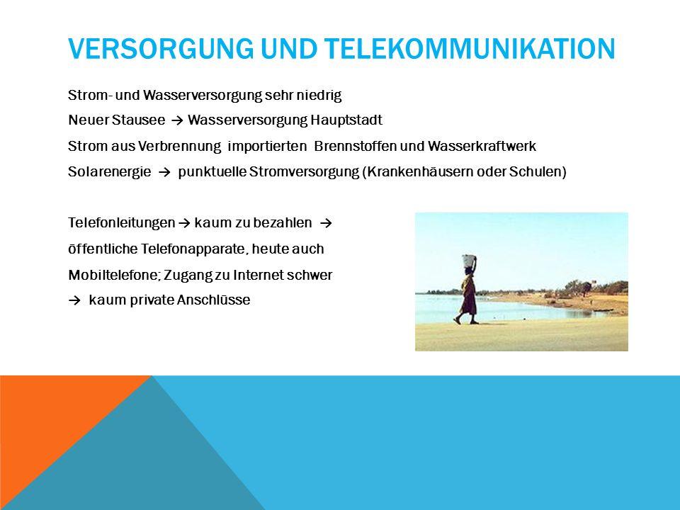 Versorgung und Telekommunikation