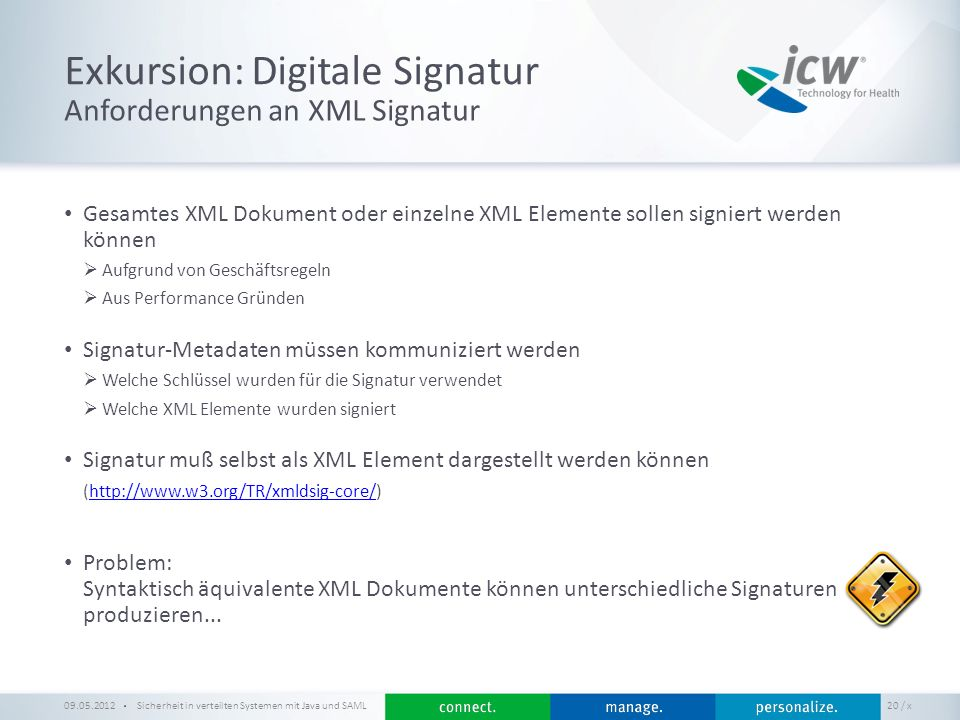 Exkursion: Digitale Signatur
