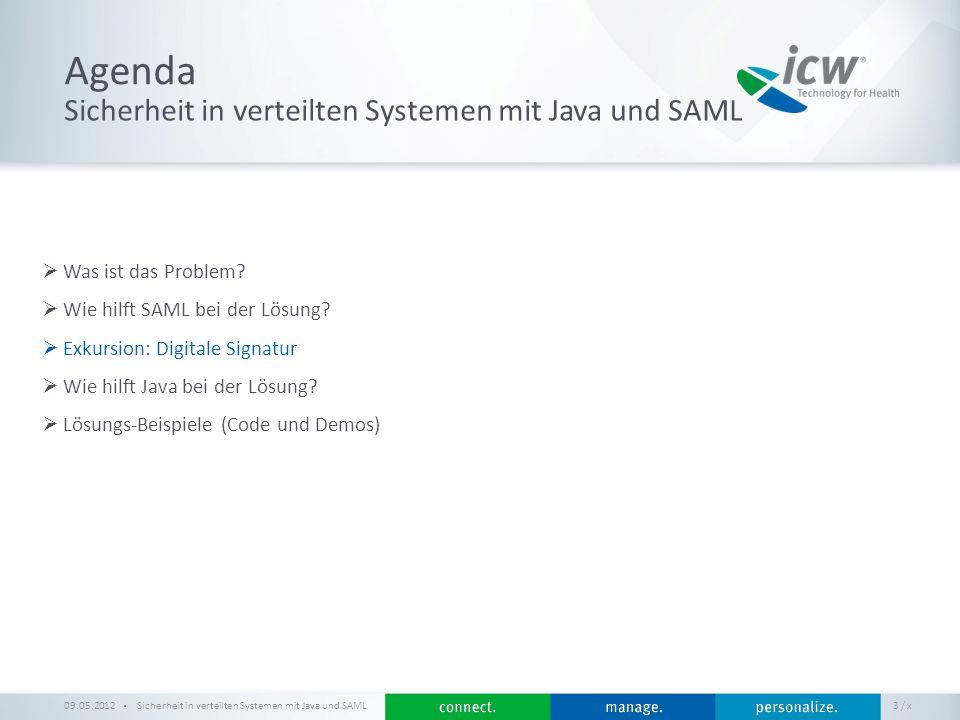 Agenda Sicherheit in verteilten Systemen mit Java und SAML