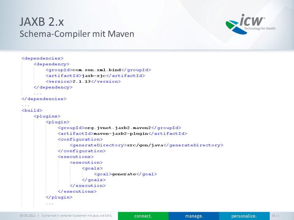 JAXB 2.x Schema-Compiler mit Maven 09.05.2012