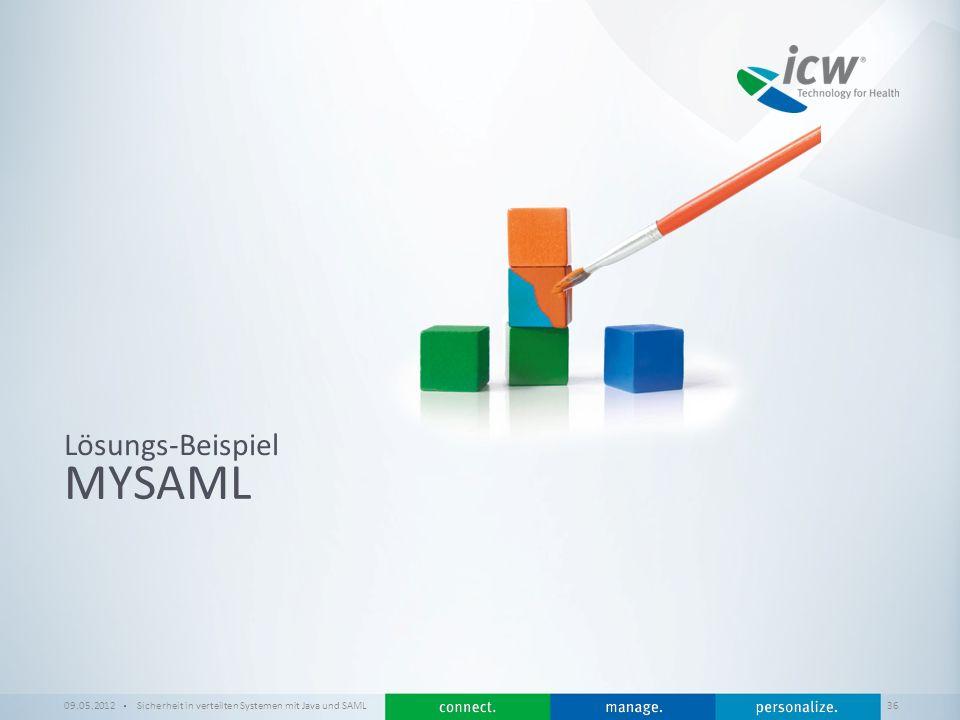 MySAML Lösungs-Beispiel 09.05.2012