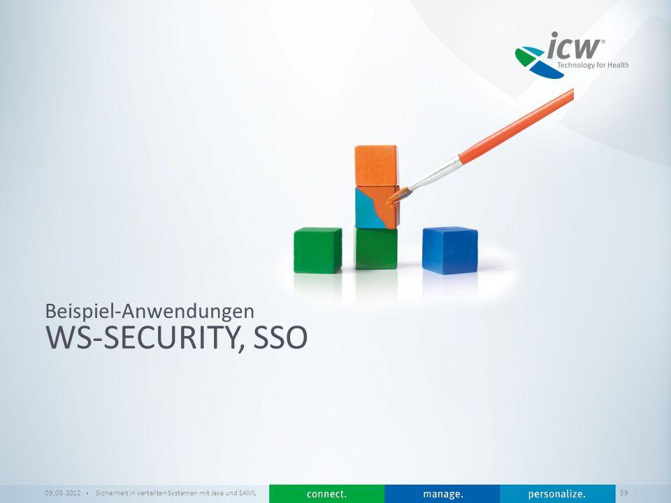 WS-Security, SSO Beispiel-Anwendungen 09.05.2012
