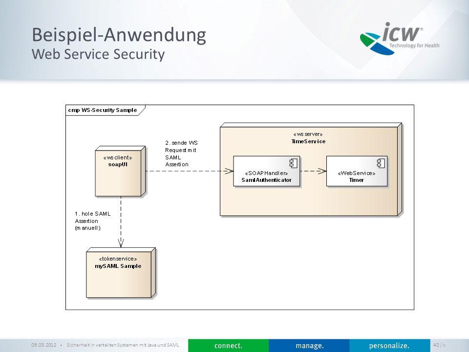 Beispiel-Anwendung Web Service Security 09.05.2012