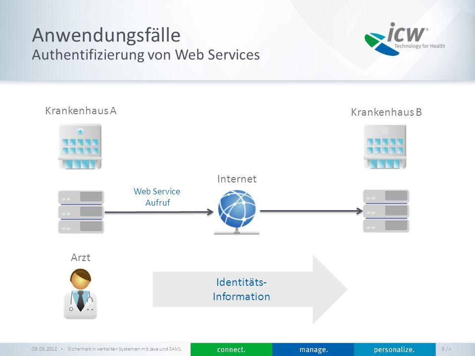 Anwendungsfälle Authentifizierung von Web Services Krankenhaus A