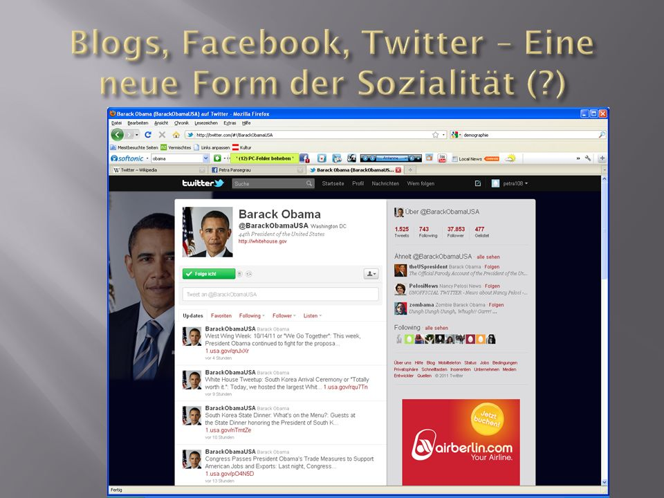 Blogs, Facebook, Twitter – Eine neue Form der Sozialität ( )