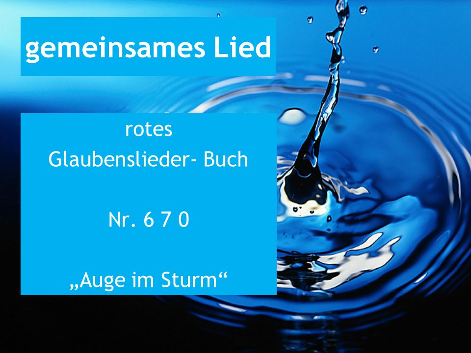 """rotes Glaubenslieder- Buch Nr. 6 7 0 """"Auge im Sturm"""