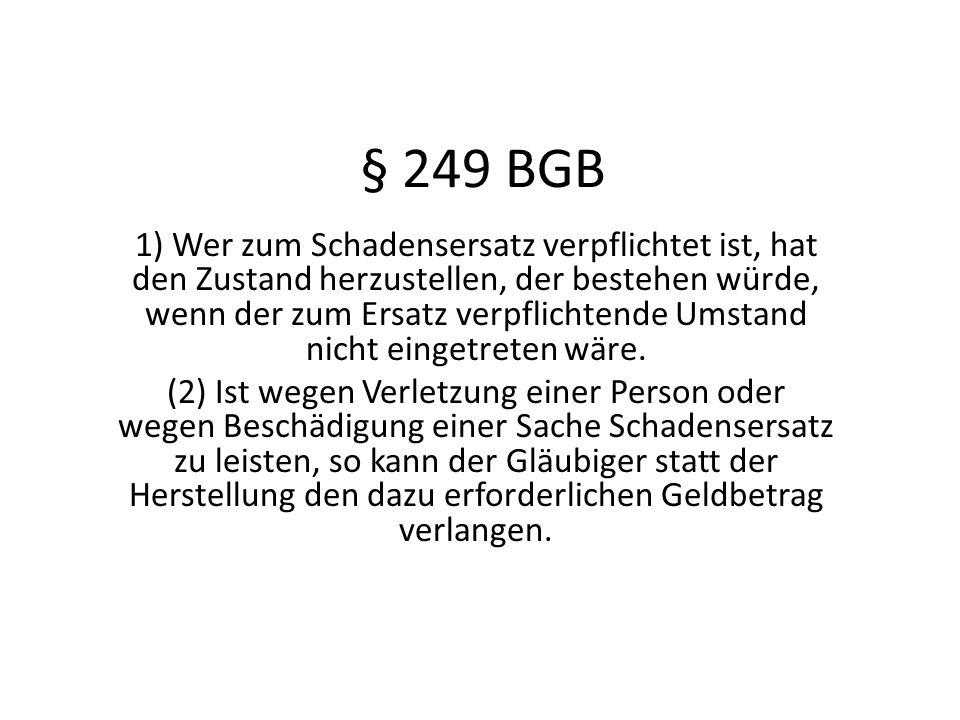 § 249 BGB