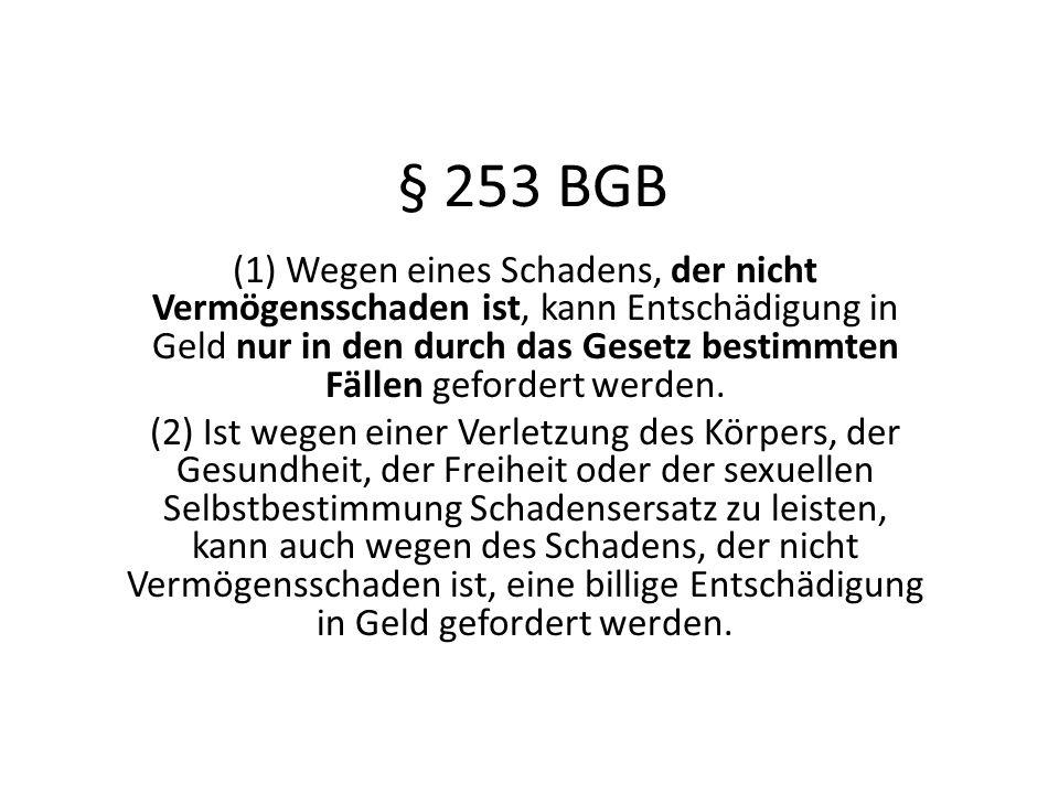 § 253 BGB