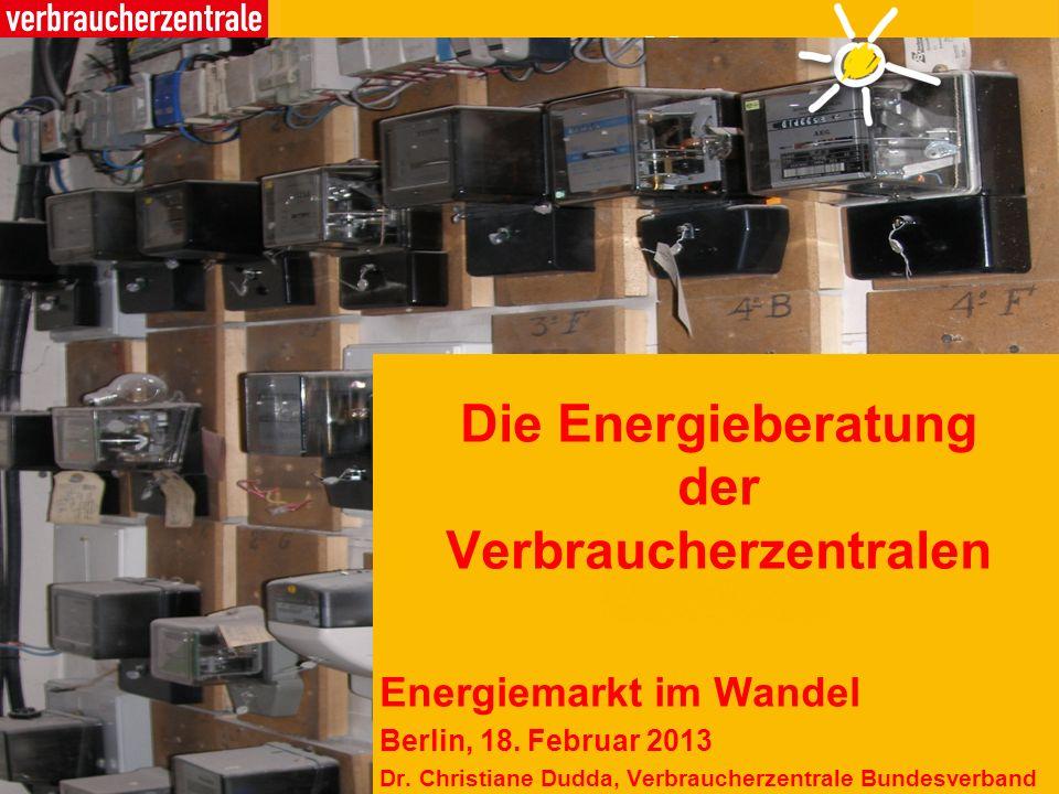 Die Energieberatung der Verbraucherzentralen