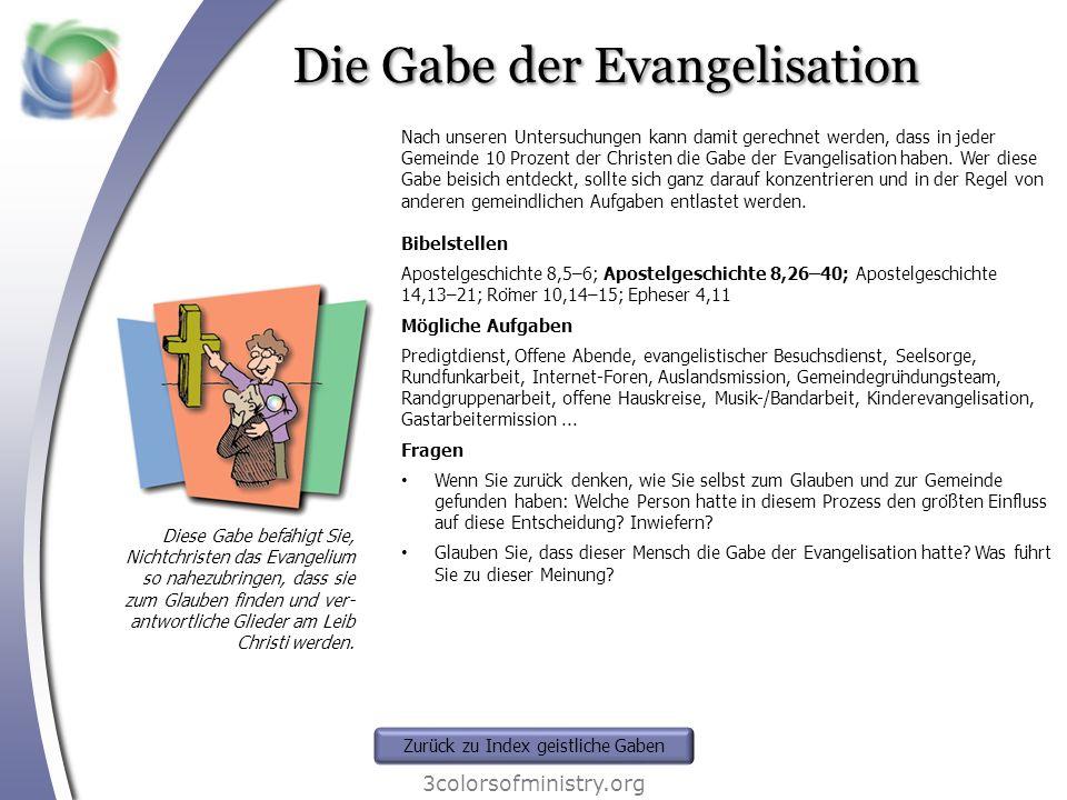 Die Gabe der Evangelisation