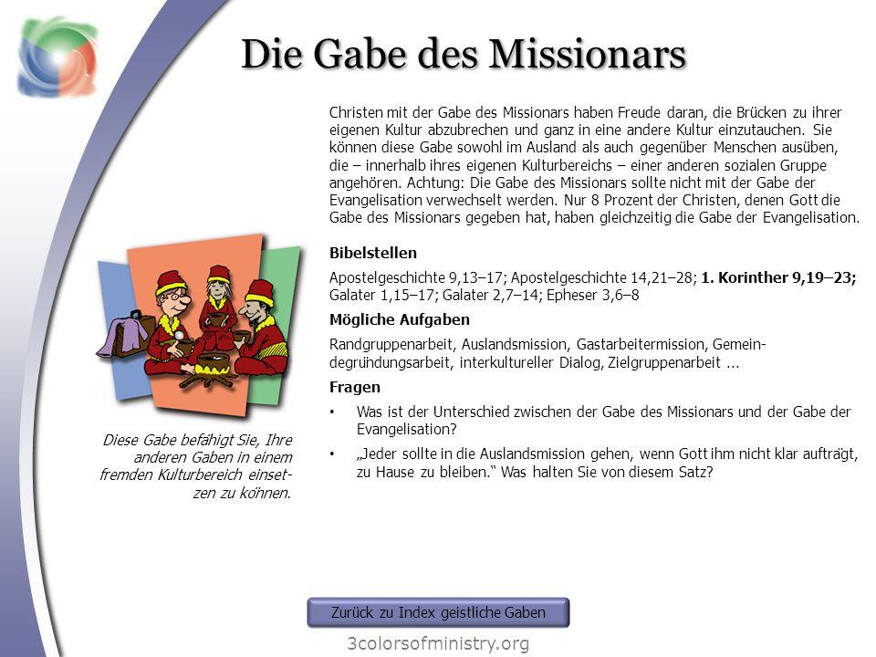 Die Gabe des Missionars