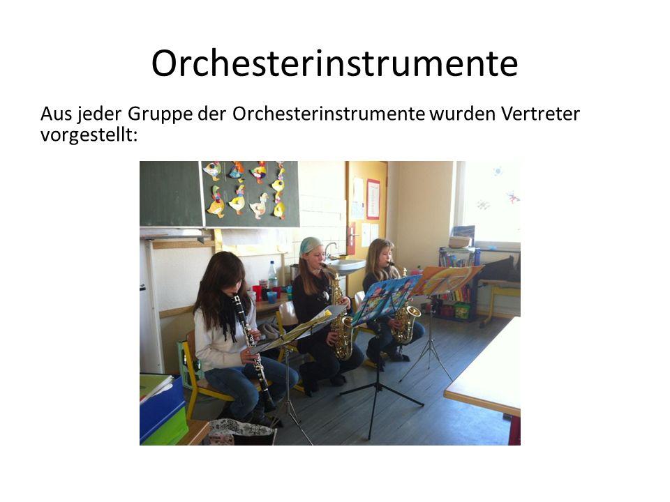 Orchesterinstrumente