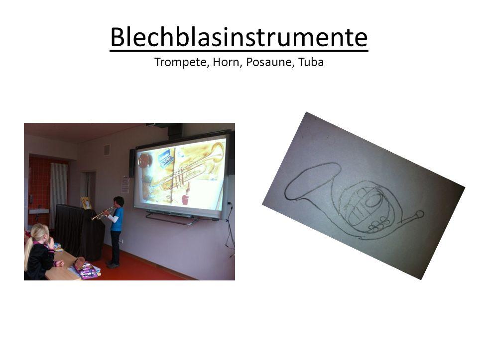Blechblasinstrumente Trompete, Horn, Posaune, Tuba